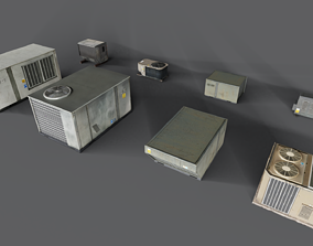 Ultimate roof air-conditioner unit pack 3D model