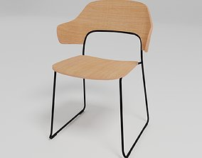 3D AFI - Sled base stackable chair with armrests -