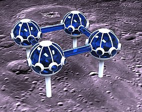 3D model Lunar colony