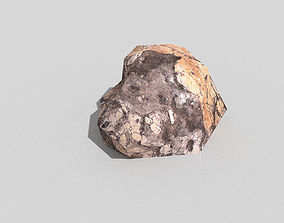 plant low poly rock 3D model low-poly