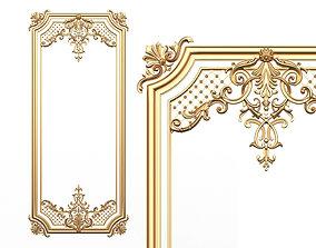 3D model Carved Decoration Panel for CNC