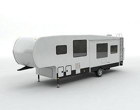 Fifth Wheel Travel Trailer Toy Hauler 1-Axle 3D