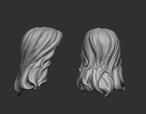 Hair stylized 5 3D print model