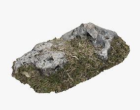 Grassy Rock 3D model