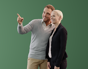 Ina Simon 10037 - Standing Casual Couple 3D asset