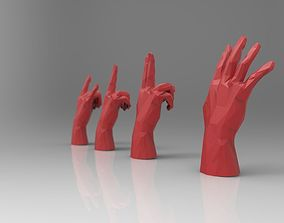 rigged hand model RIGGED - low poly - triangulated