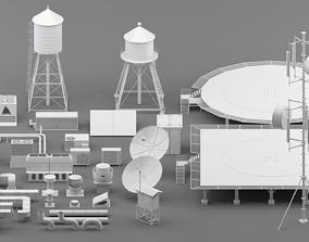 3D asset realtime rooftop parts