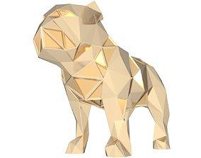 Polygonal Bulldog Parametric 3D print model