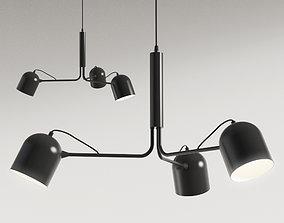 3D model Liang Pendant lamp metal black