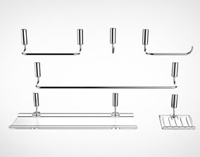 3D model chrome Shower Metals Collection 02