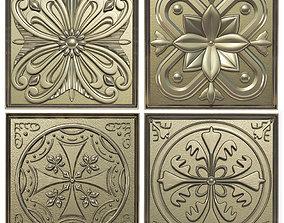 3D model Decorative panels - Set 5
