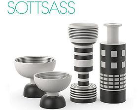 Ettore Sottsass set 01 3D model