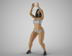 3D printable model Volleyball Girl 3