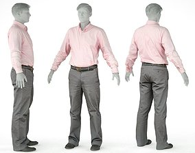 3D model Male Casual Outfit 36 Shirt Pants Footwear