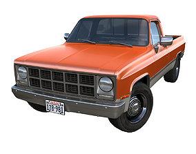 1980s generic industrial pickup 3D asset