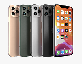 3D Apple iPhone 11 Pro All Color