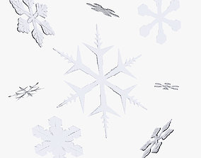3D model Snowflakes
