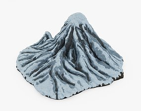 3D asset Snowy Mountain
