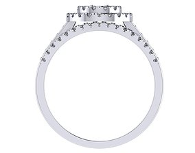 Double diamond ring 3D printable model