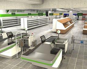 3D model Supermarket empty