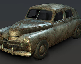 3D model Old Rusted Car