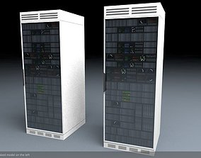 Server Rack Unit Low Poly Game Ready 3D model