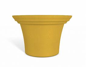 Orange Flower Pot 3D 3d