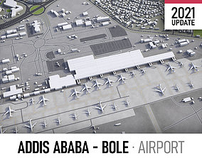Addis Ababa Bole Airport 3D model realtime