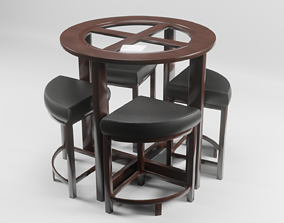 Round Dining Table 3D asset