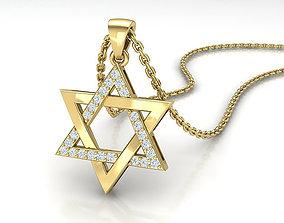 3D print model Jewish Star of David Diamond pendant 1