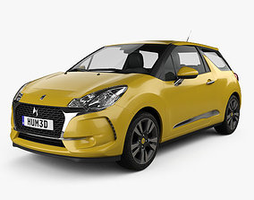 DS3 Chic hatchback 2016 3D model