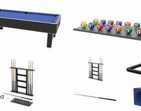 Pool Table Collection 3D