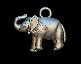 3D printable model Elephant pendants