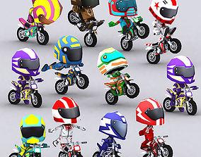 3DRT-Chibii racers - Dirt bikes animated VR / AR ready