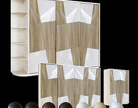 3D Wardrobe 2-4 sections v6