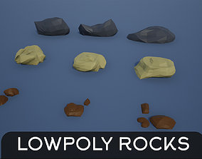 3D model Lowpoly Rocks and Stones