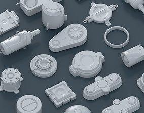 3D model sci-fi spare parts