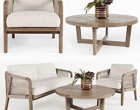 3D model Outdoor furniture w001