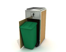 Special Litter Bin And Garbage Container 3D model