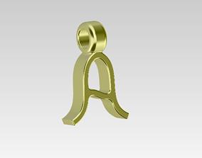3D printable model Stylish Letter A-Pendant