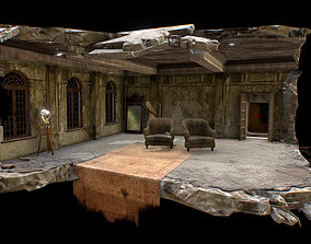 Abandoned game interior 3D model