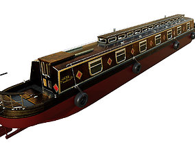 3D asset English Canal Boat 01