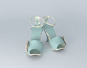 FENDI Sandal No. 2 in 5 colours 3D model