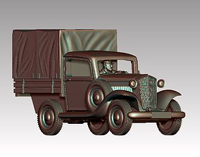 3D print model truck and driver