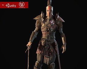 Crusader remastered 3D asset animated