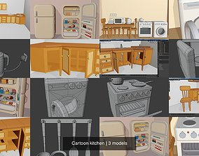Cartoon kitchen 3D