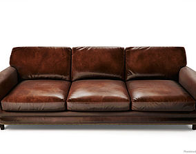 Leather Sofas and Armchair PBR Game Ready 3D model