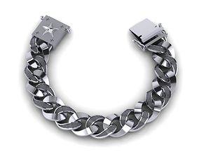 3D print model jewelry chain bracelets 04