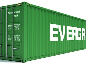 Shipping Container Evergreen 3D