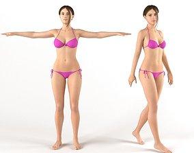 3D Female bikini